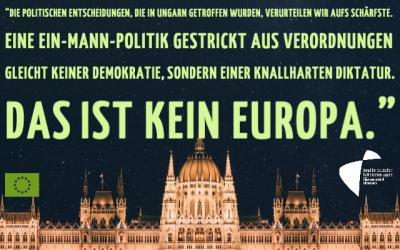 Das ist nicht Europa – Statement zur politischen Veränderung in Ungarn